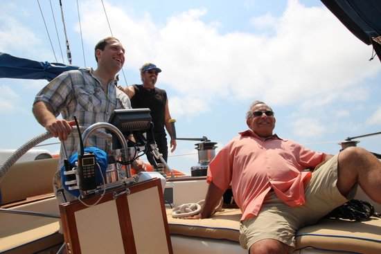 Sea Witch Sailing Charters: At the helm