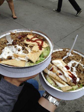 53rd & 6th Halal : Gyro over rice