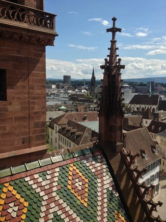Basler Münster: turret & view of the city