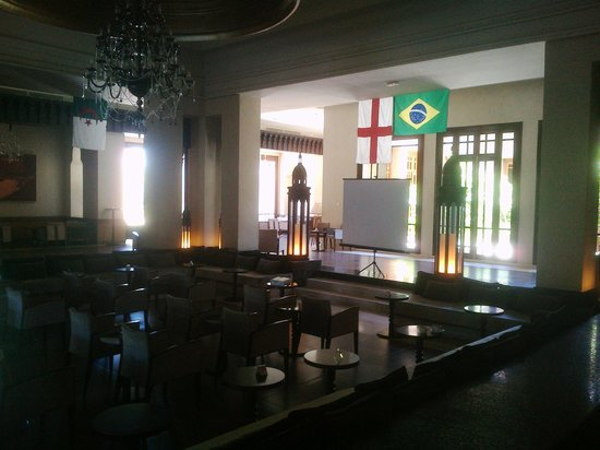 ClubHotel Riu Tikida Palmeraie: Main Reception areas showing big screens