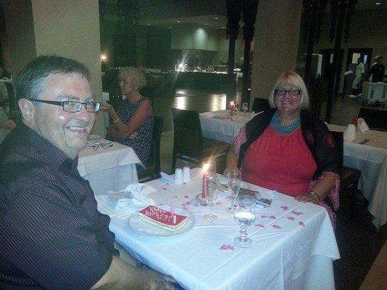 Hotel Riu Tikida Palmeraie : Our restaurant meal