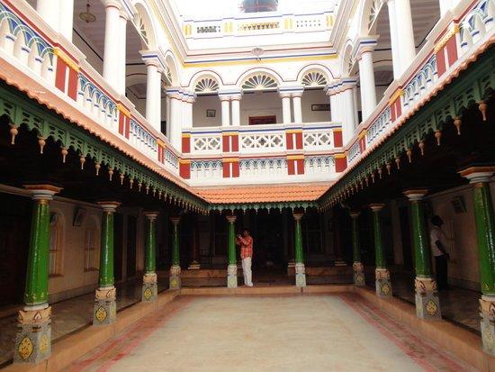 Chettinad: Inside Chettiar Palace.