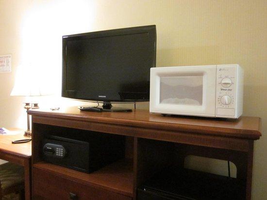 Tropicana Inn & Suites : テレビとレンジ