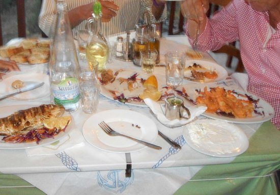 Glykeria Rooms : Serata di pesce a Glykeria