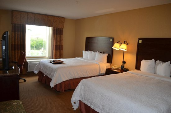 Hampton Inn & Suites San Antonio Airport: Our room with 2 Queen Beds