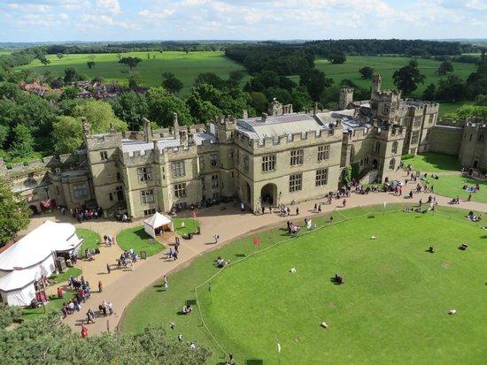 Warwick Castle: view from rampart walk