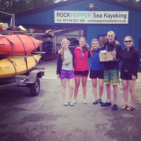 Rockhopper Sea Kayaking - Day Tours: Day one getting set up at Rockhopper