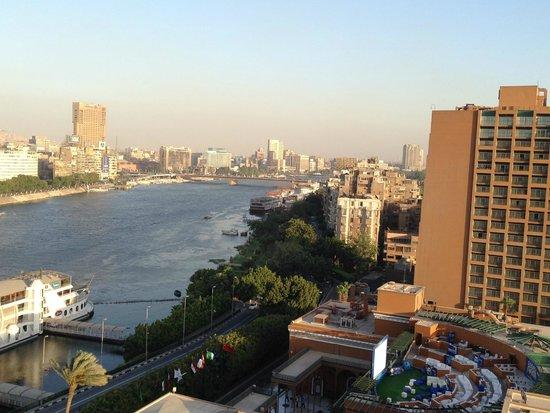 Cairo Marriott Hotel & Omar Khayyam Casino: View of Nile from Zamalek Tower
