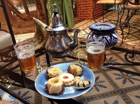 Riad Catalina: Thé à la menthe