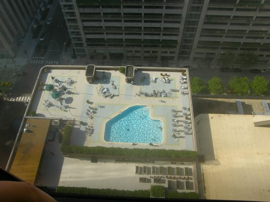 Doubletree by Hilton Chicago Magnificent Mile: pool view from our room