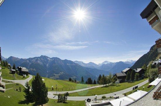 Golfhotel Riederhof: Aussicht Südzimmer (Superior)