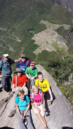 South Adventure Peru Tours: On top of Huayan Picchu