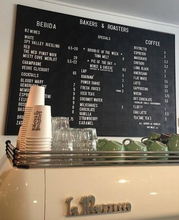 Bakers & Roasters drinks menu
