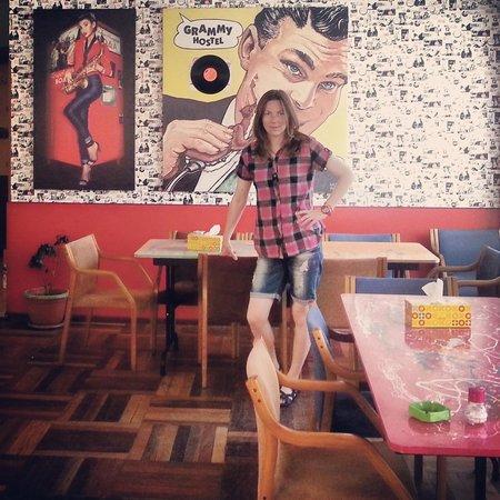 Grammy Hostel : Очень креативный интерьер