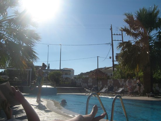 SunnySun Studios: view from the provided loungers