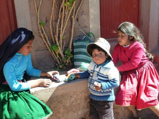 South Adventure Peru Tours : Kids on Taquile Island, Lake Titacaca