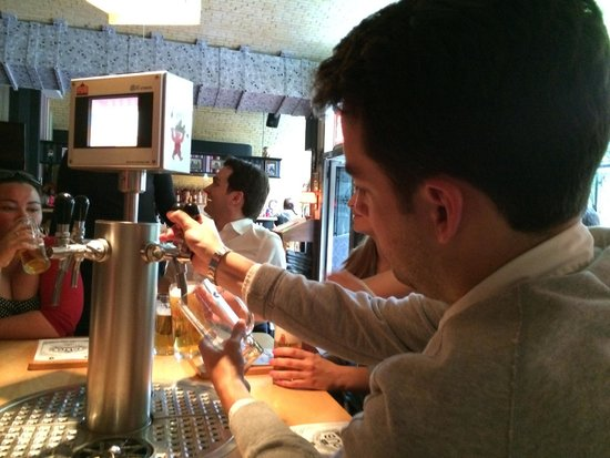 Berlin Food Tour: Pouring our own beer