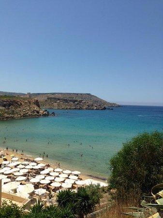 Radisson Blu Resort & Spa, Malta Golden Sands: View of private beach
