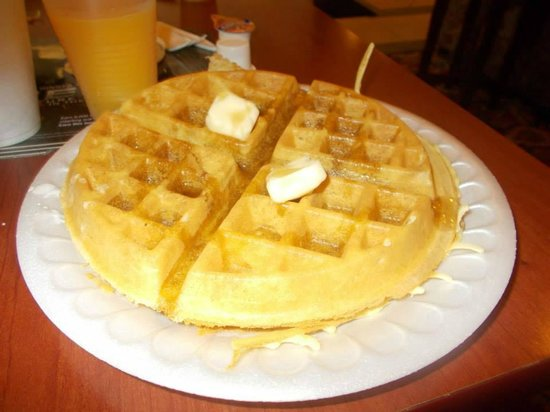 Super 8 Indian Head MD: This is the best hotel waffle I have ever made!