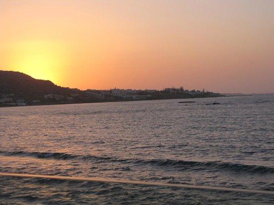 Aktia Lounge Hotel & Spa: coucher de soleil