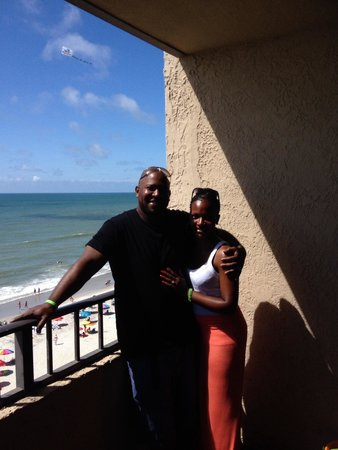 Ocean Reef Resort: Me and my lovely wife on the balcony