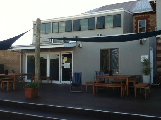 Port Elliot Beach House YHA: View of Back Deck - Port Elliot Beach House