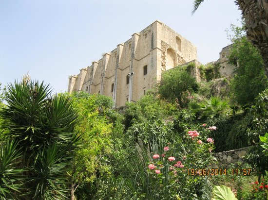 Hotel Bellapais Gardens: View from pool and restaurant area of 13th century abbey.