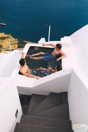 Andronis Luxury Suites: Outdoor джакузи в номере