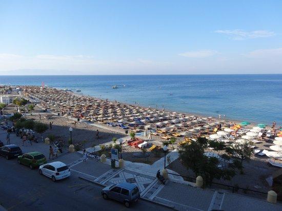 Hotel Mediterranean : vue sur la plage