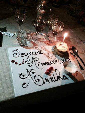 Le Clos Saint Front: Dessert for the birthday girl!