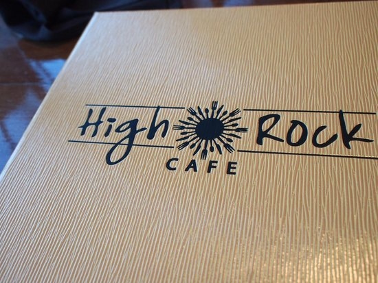 High Rock Cafe: Menu