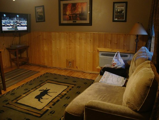 Moose Creek Inn : front room with sofa bed