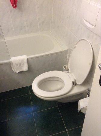 Suitenhotel Parco Paradiso: Badkamer 136 is zo klein dat de rest (minuskule wasbak) niet op deze foto kan.
