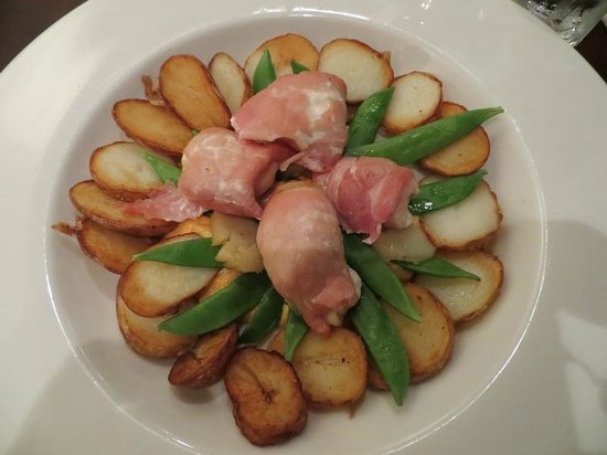 the Lounge: Monkfish with Bacon and Scallops