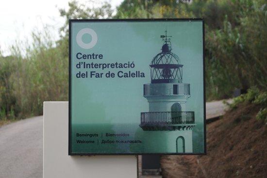 Faro de Calella (Far de Calella): Табличка у поворота к маяку