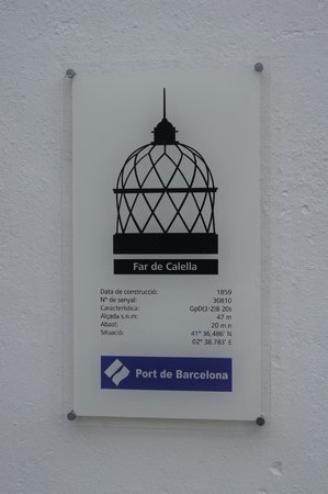 Faro de Calella (Far de Calella): Табличка у входа