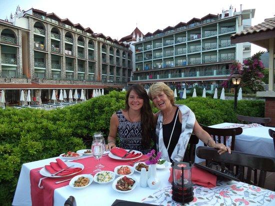Marti La Perla: Lovely Turkish meal at the hotel's A La Carte restaurant