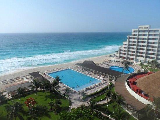 Crown Paradise Club Cancun : Bello paisaje vista al mar!