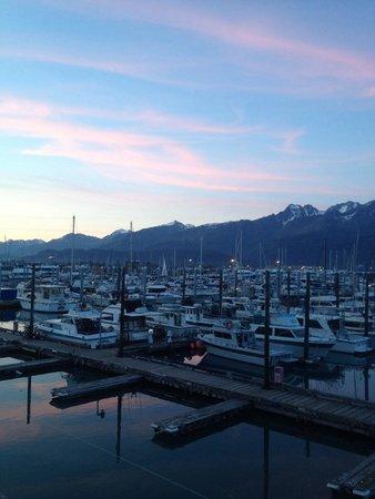 Seward Boat Harbor: The boat harbor.. Seward AK 12:00am