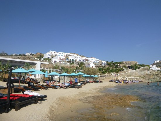Row Of Sunbeds On The Beach Picture Of Hippie Fish Agios