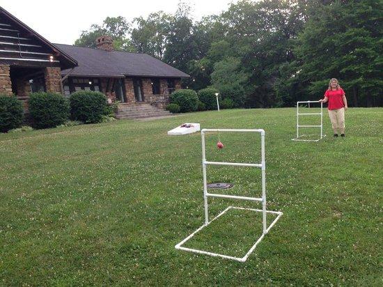 Abe Martin Lodge: Ladder ball behind the Lodge