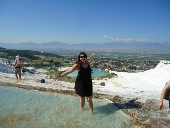 Pamukkale Thermal Pools : Da parte de cima do parque