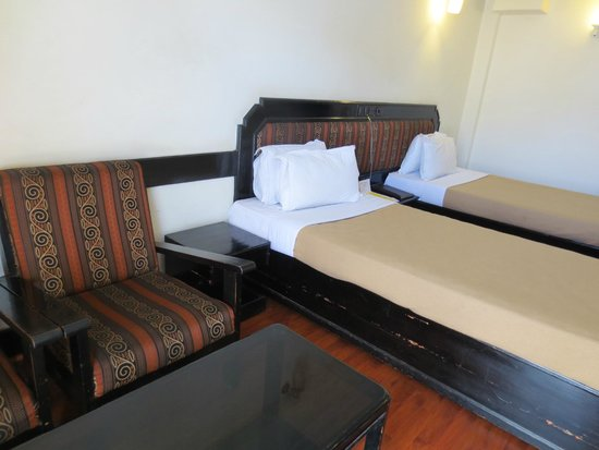Ballal Residency: Doppelzimmer mit Einzelbetten.