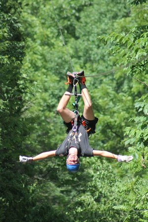Foxfire Mountain Adventures: Sam is rocking the Zipline