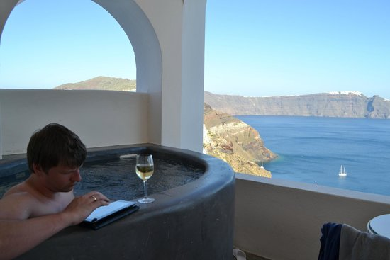 Andronis Luxury Suites: Балкон Премьер сьюта