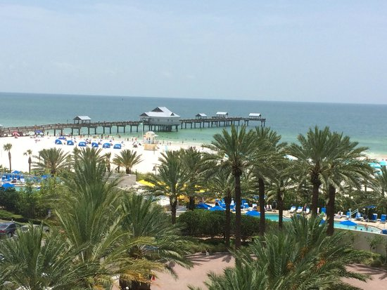 view from room balcony picture of hilton clearwater. Black Bedroom Furniture Sets. Home Design Ideas