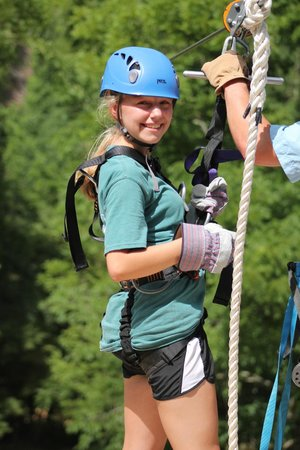 Foxfire Mountain Adventures: Katie is zippin' awesome