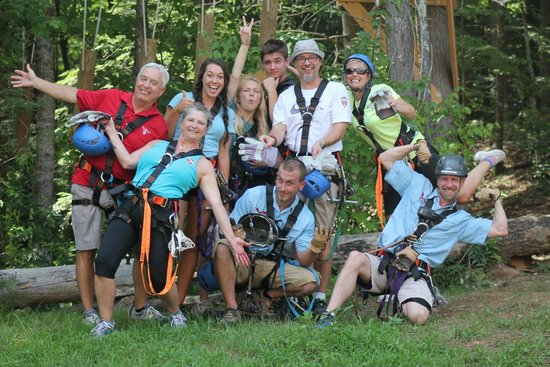 Foxfire Mountain Adventures: Fun shot of the crew