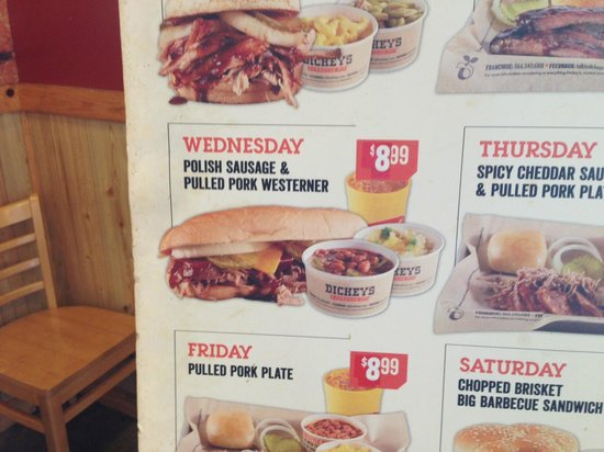 I Choose The Wednesday Special Picture Of Dickey S Bbq