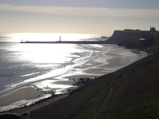 Whitby Beach: The sea from the clifftop